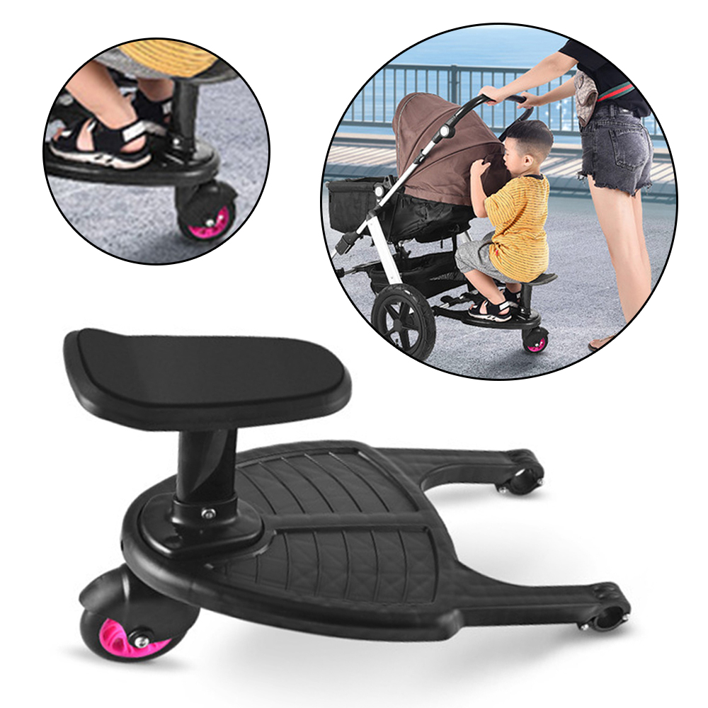 Baby Stroller Accessories Stroller Auxiliary Pedal Second Child Artifact Trailer Twins Cart Children Standing Plate Sitting