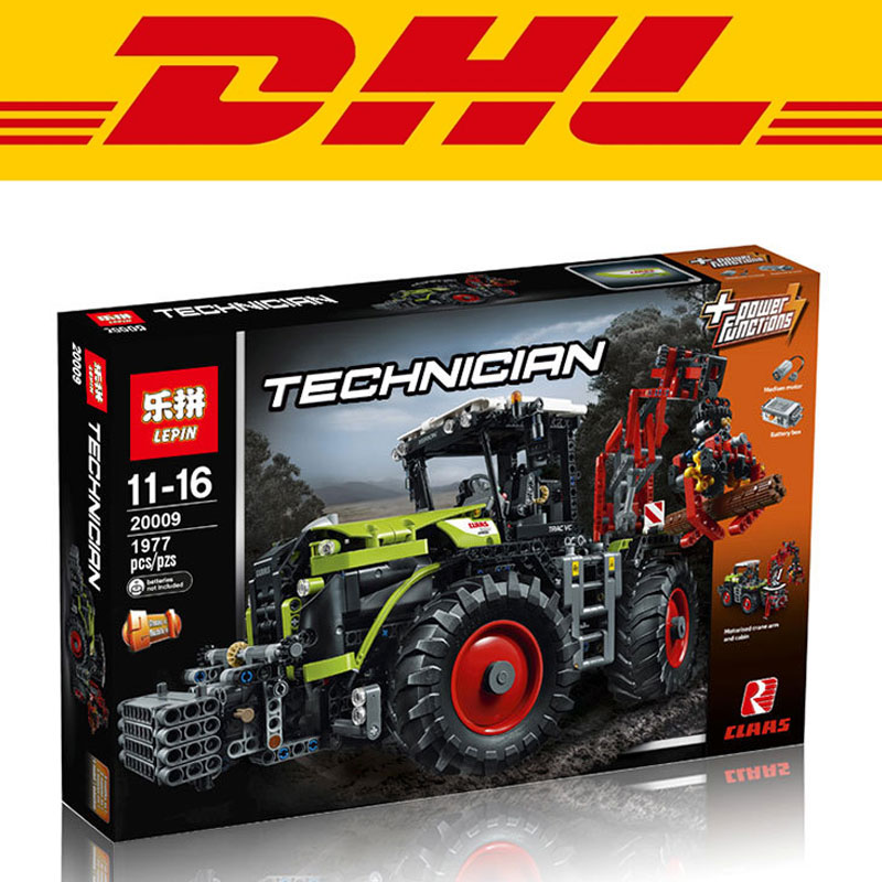 2017 New LEPIN 20009 1977Pcs Technic Claas Xerion 5000 Trac Vc Model Building Kits Blocks Compatible Toys Gift With 42054 конструктор lego technic claas xerion 5000 trac vc 1977 элементов
