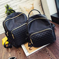Ladies shoulder bag new Lingge buckle pocket backpack waterproof nylon fashion double back woman bag