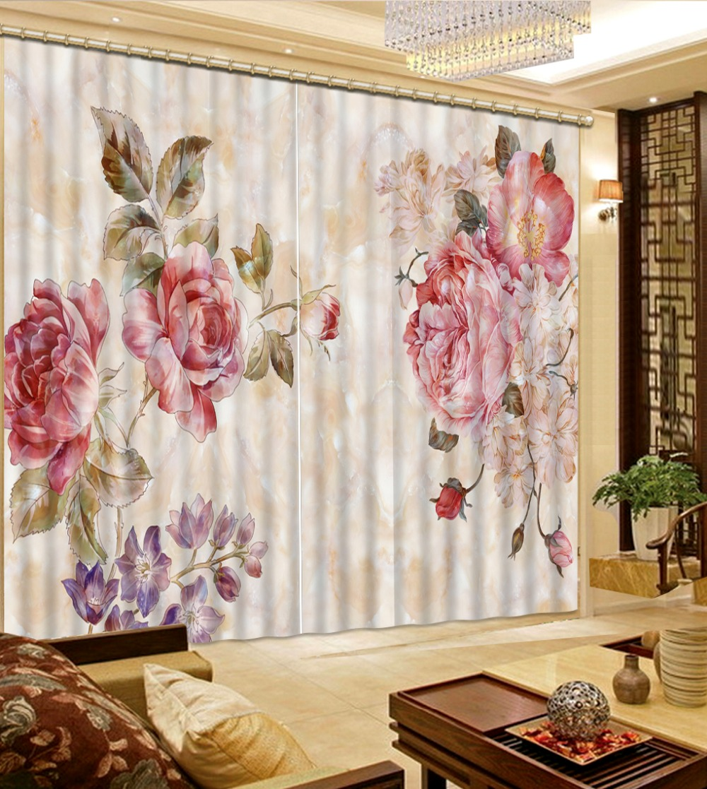 High Quality Customize size window curtains for living room marble flower custom curtain Home Decor Living Room Natural ArtHigh Quality Customize size window curtains for living room marble flower custom curtain Home Decor Living Room Natural Art