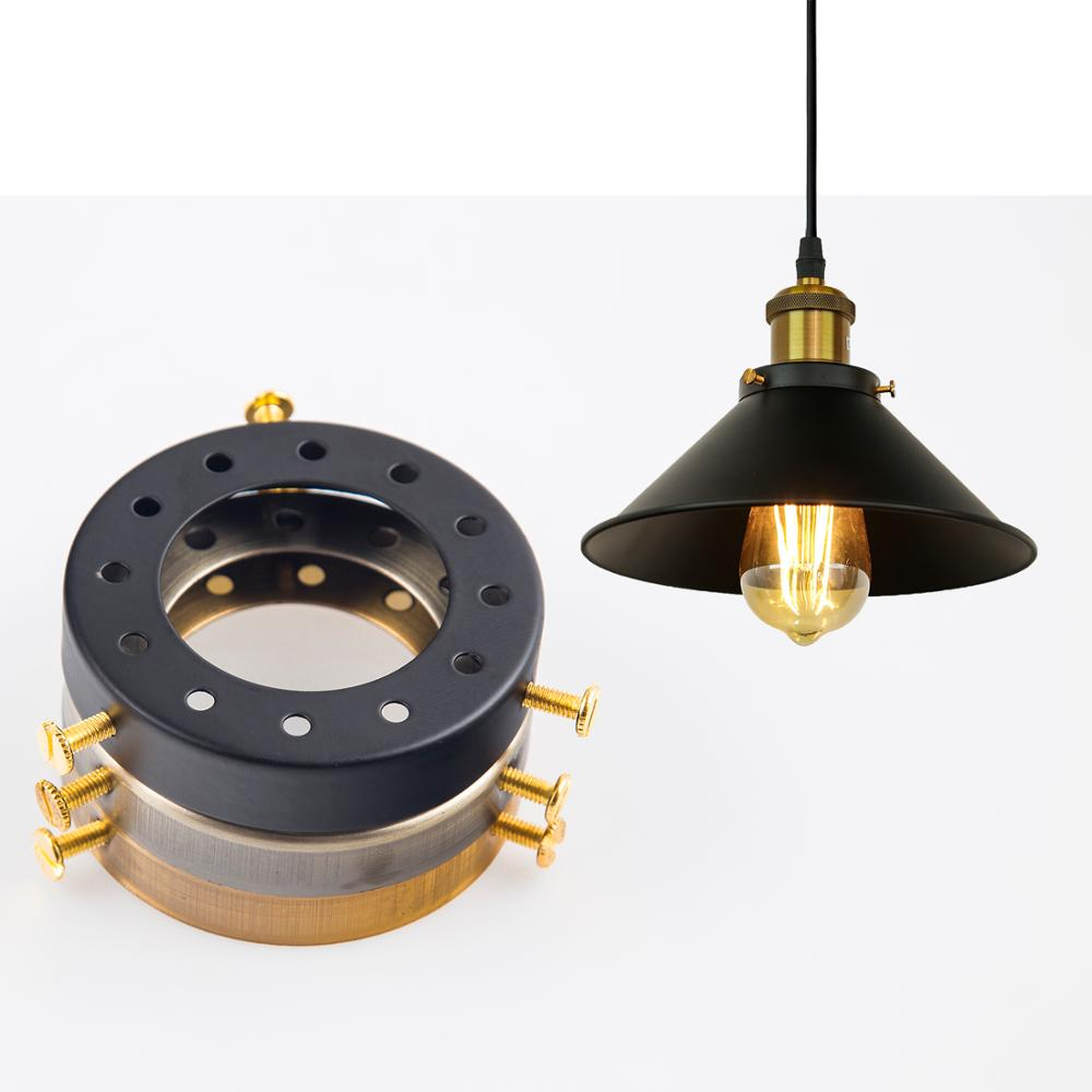 Us 1 5 Zhaoke Solid Br Lamp Holder Accessories For Chandeliers Edison Vintage Multihole Cap E27 Base Pendant Light In Bases