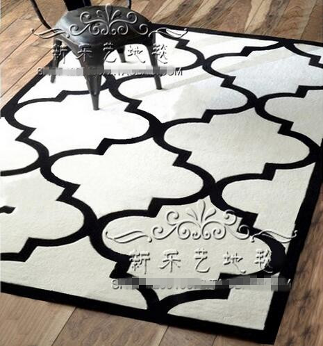 Black and white living room carpet Bedroom Table European