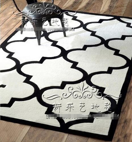 Black and white living room carpet Bedroom Table European