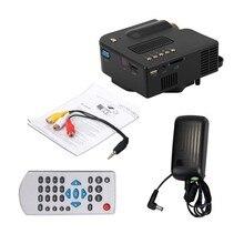 Livraison gratuite UNIC UC28 + LED Mini Portable vidéo Projecteur pour Home Cinéma avec HDMI/VGA/SD/USB pico vidéo projecteur Full HD