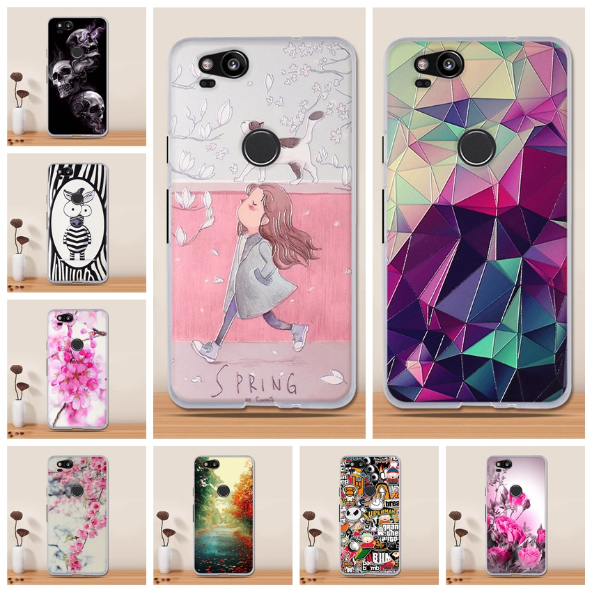 pretty nice 63259 6679c For Google Pixel 2 Case Silicone Cute Cover 3D Print TPU Soft Coque For  Google Pixel 2 Cover Google Pixel 2 Phone Case