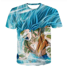 Dragon Ball Z 3D Printing Super Saiyan Son Goku Black Zamasu Vegeta T Shirt