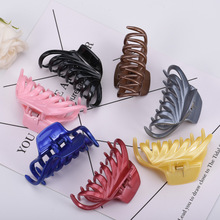 large senior 1Pcs Women Hair Clip Plastic Acrylic senior Hairpins Solid Black Hair Crab Claws Girls Make Washing Accessories senior residences