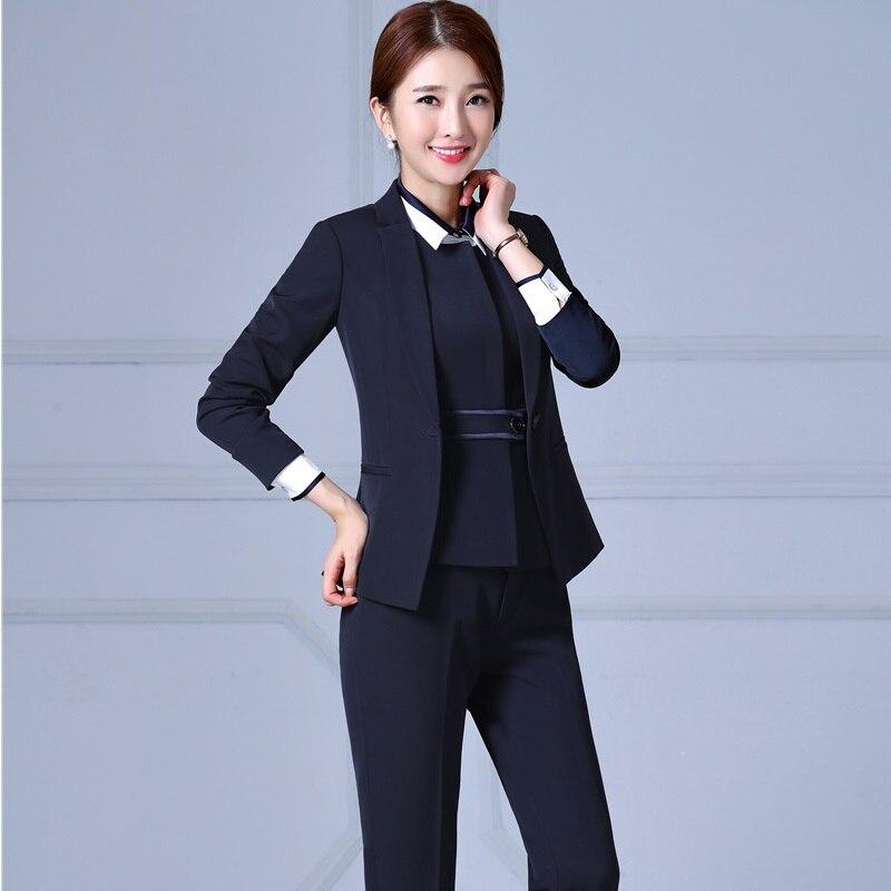 d25394658 Tenues 3 Femmes Costumes Hiver Plus Automne Dark Professionnel 4xl ...