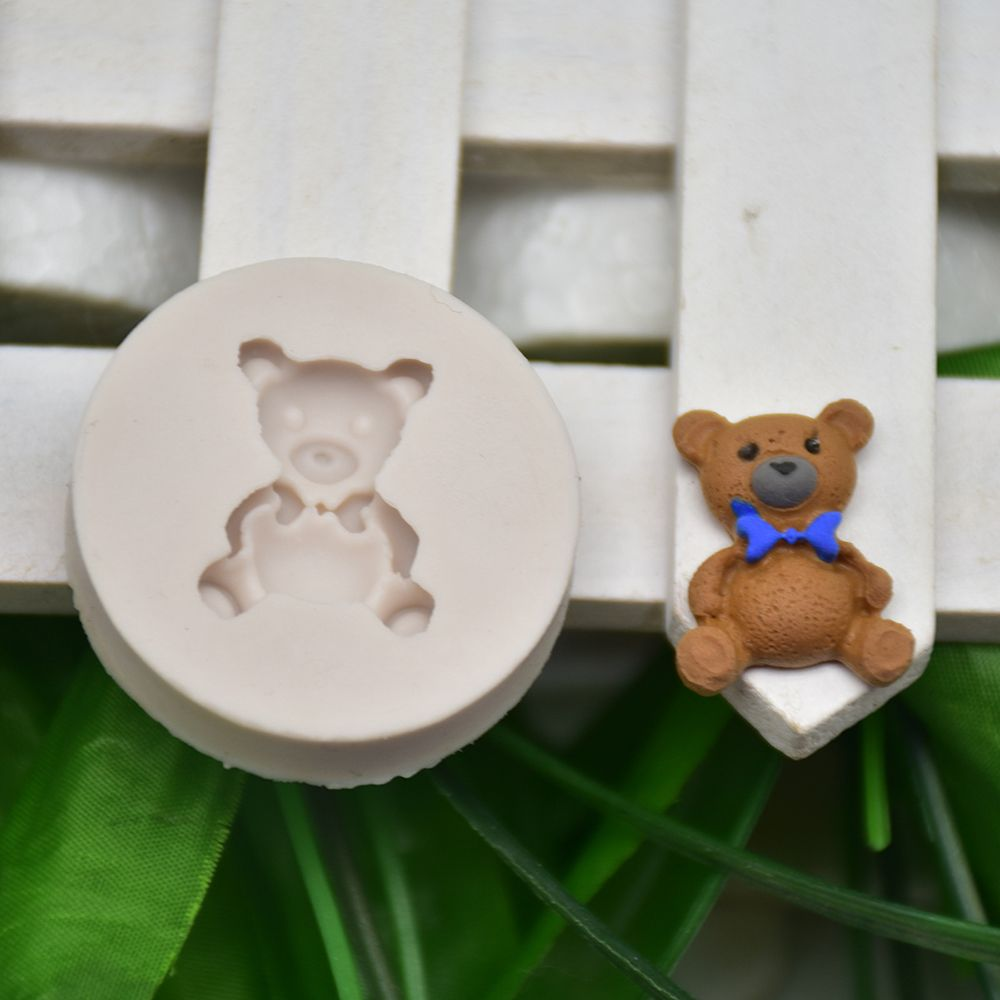1pc Mini Bear Shape Silicone Molds Chocolate Making Cupcake Fondant Cake Decoration Sugar Candy Clay Moulds Kitchen DIY Tools