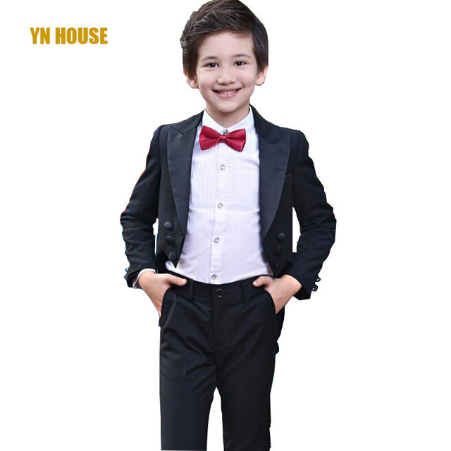 Online Shop Boys Suits For Weddings 95CM-165CM Kids Prom Suits ...