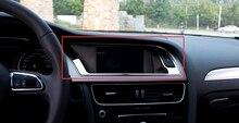 Стайлинга автомобилей 1 часть инструмента Панель декоративная крышка отсека Нержавеющаясталь для Audi A4 B8 2008 2009 2010 2011 2012 2013 2014 2015