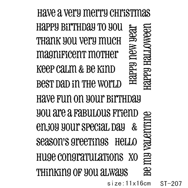 AZSG  Christmas wishes Theme clear stamp scrapbook rubber seal paper craft card making