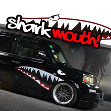New 2015 Cool shark mouth pattern vinyl sticker, car whole body refit decor stickers,DIY car styling for FORD/VW/BMW and so on(China)