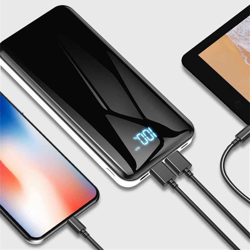 20000 мАч power Bank для iPhone 8 Plus X XR samsung Xiaomi Tablet Зарядное устройство для мобильного телефона внешний аккумулятор power bank Быстрая зарядка