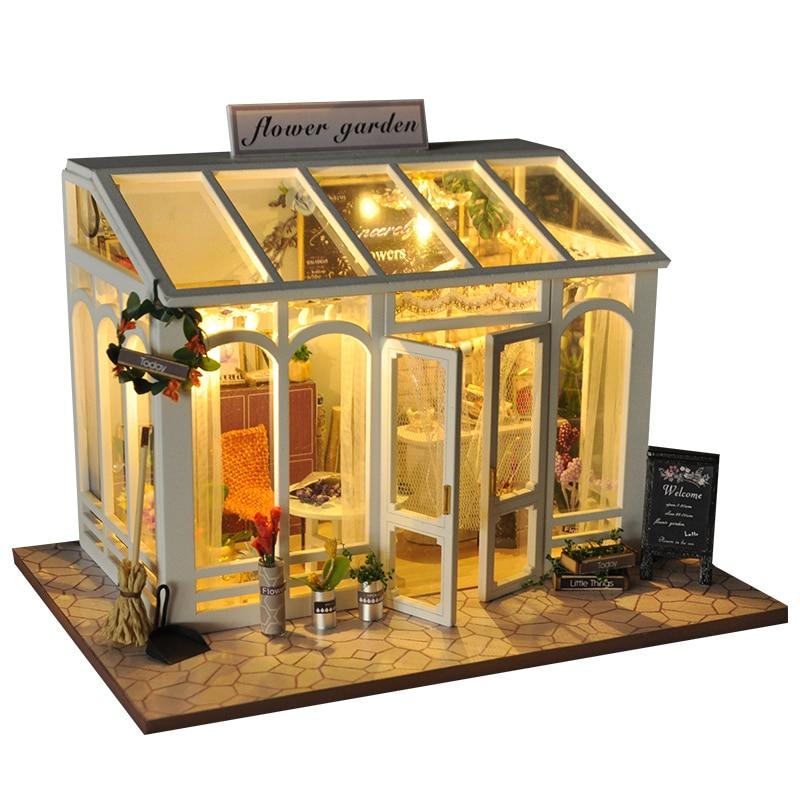 miniature flower garden dollhouse