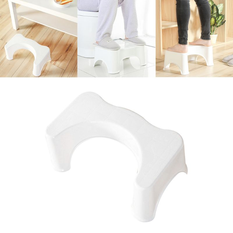 Image 2 - 39x22.5x17cm U Shaped Squatting Toilet Stool Non Slip Pad Bathroom Helper Assistant Footseat Relieves Constipation Piles new-in Toilet Seat Lifters from Home & Garden