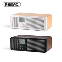 REMAX Ретро деревянный двойной громкий динамик s беспроводной Bluetooth динамик будильник поддержка магнитола с AUX Fm USB Смарт устройство зарядки