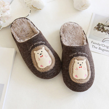Women Winter slippers Cartoon Pattern Weaving Cute Indoor shoes for girls Suede Light Weight Bedroom Funny Fur