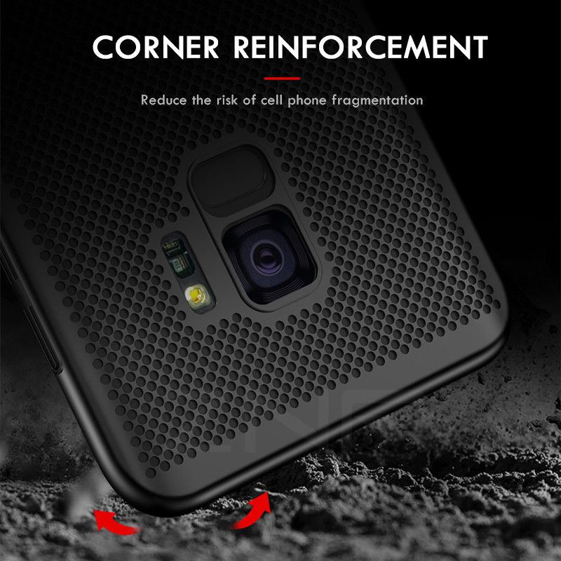 Image 2 - ZNP Ultra Slim Grid Heat Dissipate Phone Case For Samsung Galaxy S9 S8 Plus Note 9 8 Back Cover Case For Samsung S7 S6 Edge Case-in Fitted Cases from Cellphones & Telecommunications