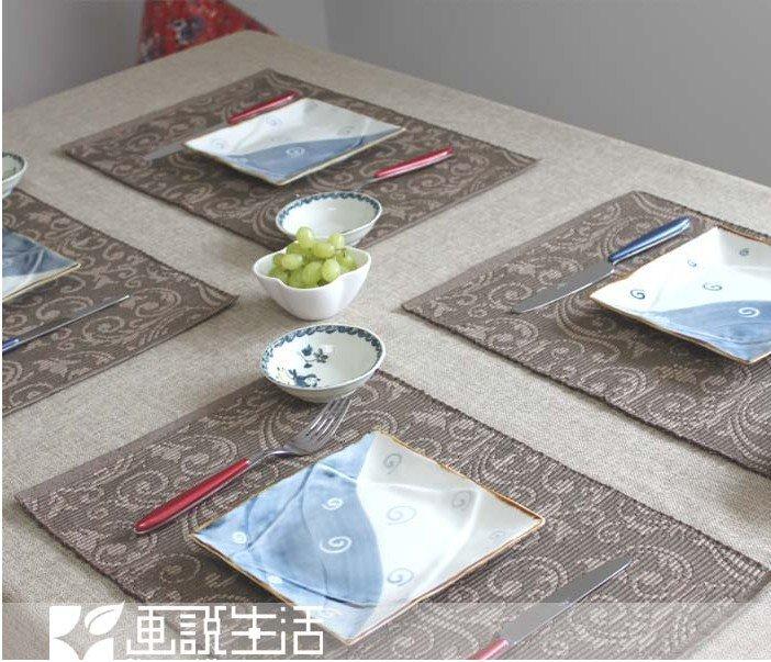 Fabric Hemerocallis Placemats Fashion Cotton Placemat