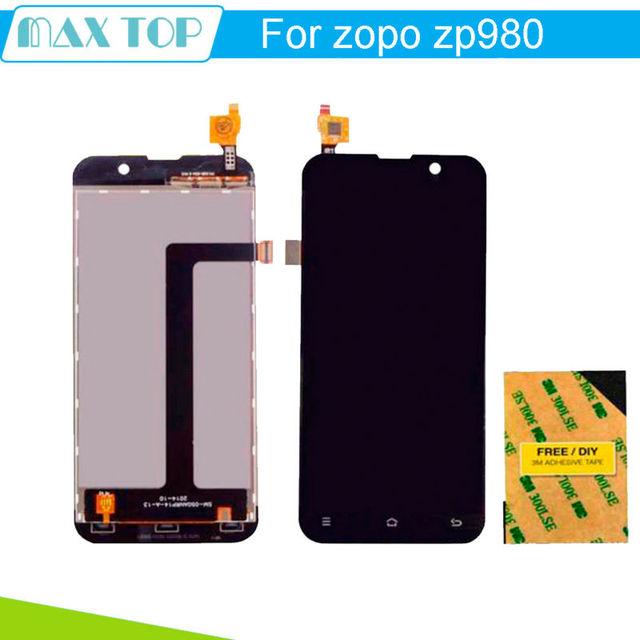 Para zopo zp980 display lcd + digitador assembléia tela de toque para zopo zp980 zp980 + c2 c3 1920*1080 fhd