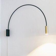 Nórdico moderno conduziu a lâmpada de parede bola vidro espelho do banheiro besde americano retro arandela luz