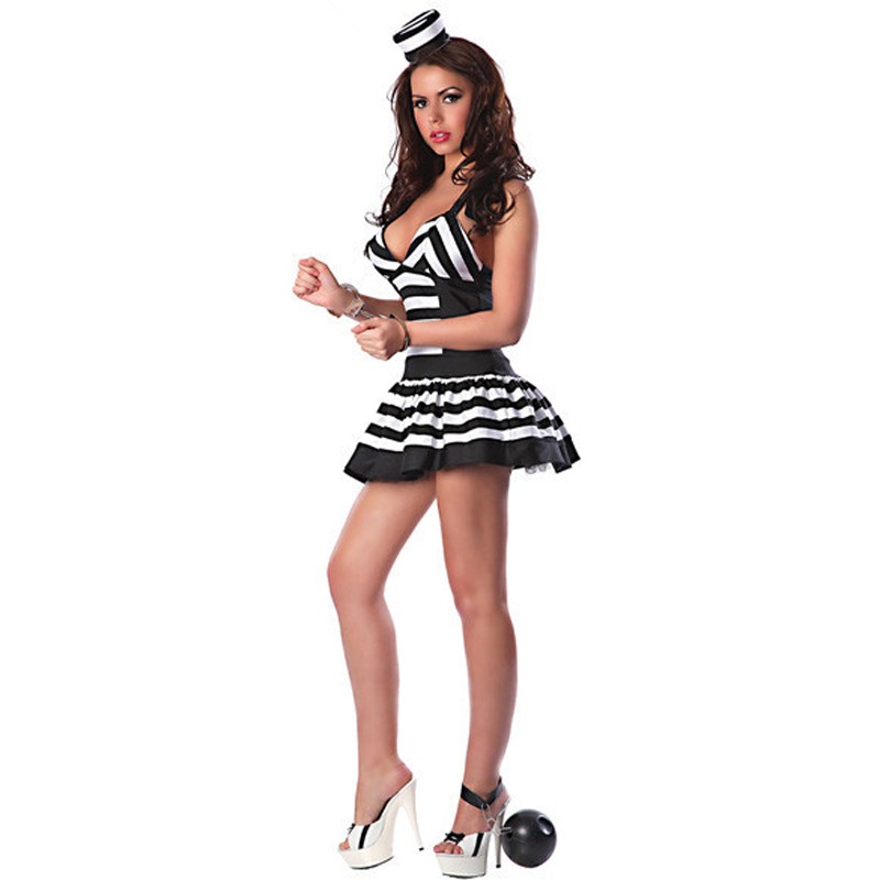 Women Prisoner Dress Costumes Halloween Game Stage Bar Convict Costume Cosplay -in Sexy Costumes from Novelty u0026 Special Use on Aliexpress.com | Alibaba ...  sc 1 st  AliExpress.com & Women Prisoner Dress Costumes Halloween Game Stage Bar Convict ...
