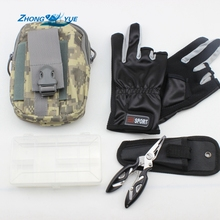NEW Fishing Bag Waist Bag Waterproof Waist Pack Military Waist Fanny Pack and Fishing Gloves Boxes