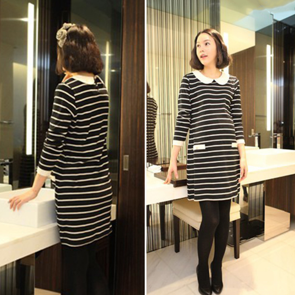 Maternity T-shirt Long Sleeves Striped Nursing Clothes Tops for Pregnant Women Spring Autumn T Shirt Maternity Clothes Tee