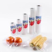 أكياس مفرغة من أجل الغذاء مصنوعة من أكياس تفريغ الهواء لتغليف الأغذية مجموعة أكياس تفريغ الهواء 12 + 15 + 20 + 25 + 28 5 لفات شحن مجاني