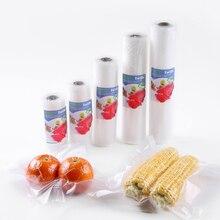 Iwife Bolsas Envasado Al Vacío De Alimentos Para Alimentaria Selladora Empaques Envasadora Empacadora Maquina Electrodomesticos Para La Cocina 12 + 15 + 20 + 25 + 28 5 rollos/lote