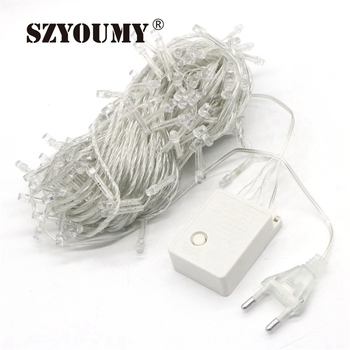 SZYOUMY led fairy string light 20M 200led AC 110V 220V waterproof colorful LED Starry outdoor decoration christmas lighting
