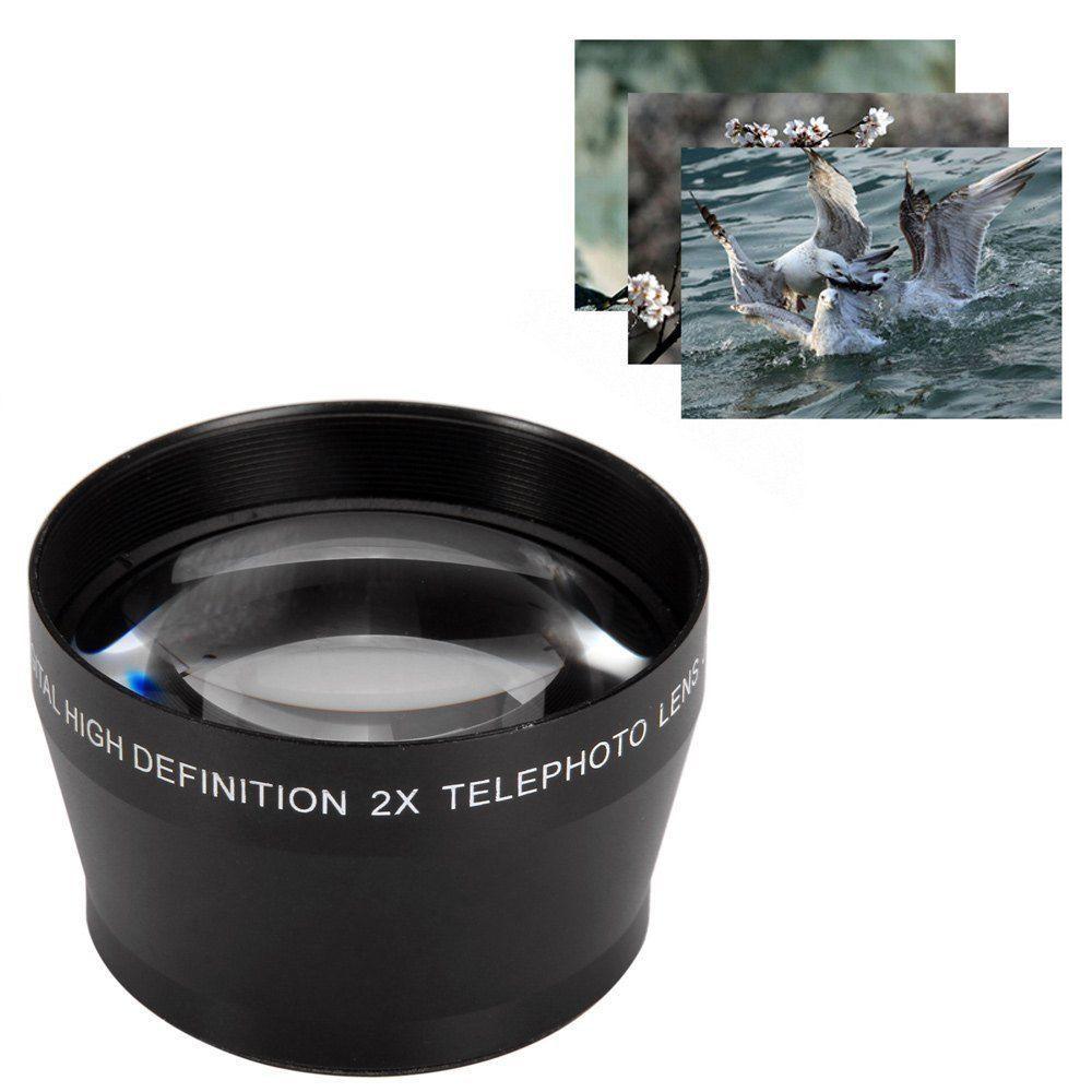 52mm 2X Téléobjectif pour AF-S DX Nikkor 18-55mm, AF-S 55-200mm Nikon DSLR Appareil Photo REFLEX