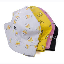 89e902d2d20 Cute Pink Yellow Caps Casual Bucket Hat Fishing Hat for Girls Beach Sun Hats  Women Men