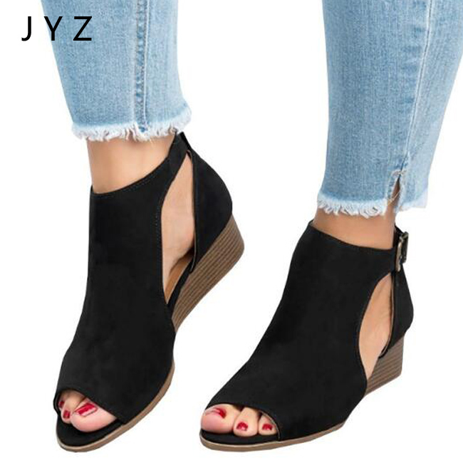 2018 Fashion New Womens Sandals Causal Summer Wedges Shoes Size 40 41 42 43 aa0867