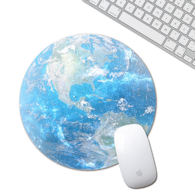 mouse pad planet series mat circular mouse pad with style earth