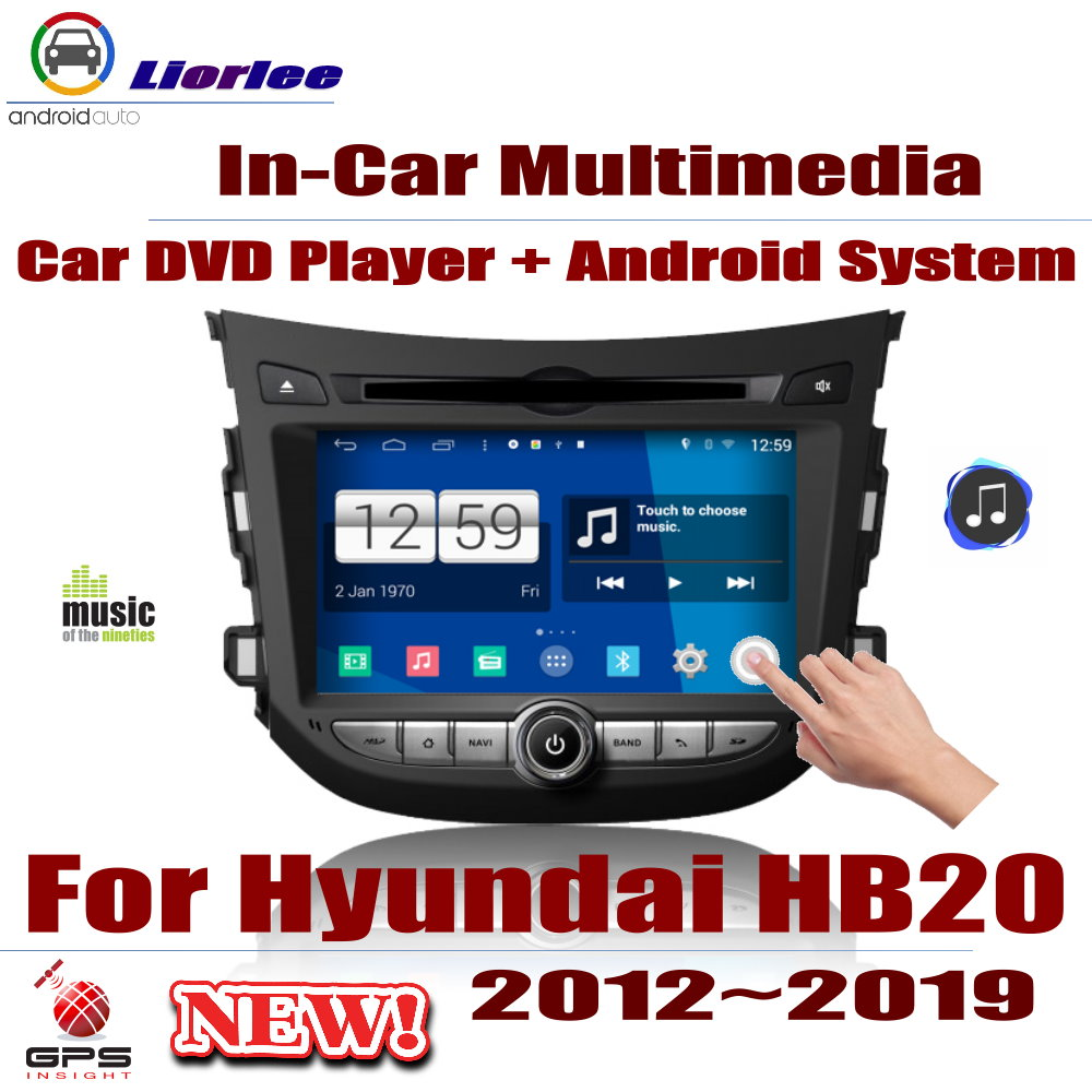 Lecteur DVD de voiture pour Hyundai HB20 2012 ~ 2019 IPS écran LCD Navigation GPS système Android Radio Audio vidéo stéréo