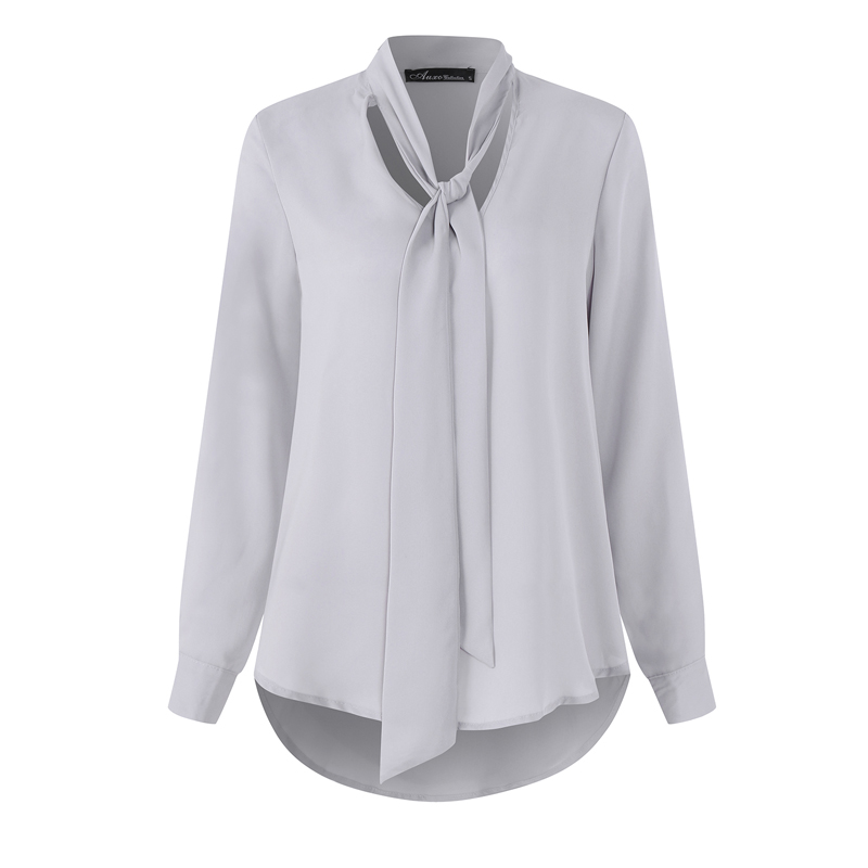 2018 NEW Arrival Women Chiffon Shirts Long Sleeve Casual Solid Clothes Office Ladies Blouse Mujer Blusas Feminino Tops Plus Size