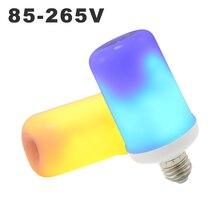 99LEDs E27 LED Flame Bulb 3 modes + Gravity Sensor Fire Light Blue AC85-265V Flickering Emulation Effect Lamp Mood Creator