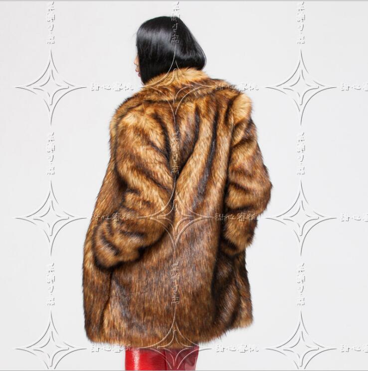 Femelle Scène 035 Chanteuse Automne Renard Manteau Faux De Haining Fourrure Long Costume Imitation Hot Mode L'hiver La Herbe Et t4wq66U