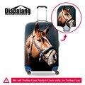 Dispalang Cavalo Animal Print elástica spandex tampas de bagagem mala trolley bagagem tampas de proteção À Prova D' Água para 18-30 polegada
