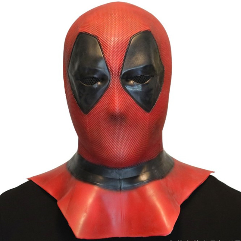 Deadpool Cosplay Deluxe Latex Deadpool Mask Costume Full Face Party Halloween Christmas Dress up Birthday Gift Toys