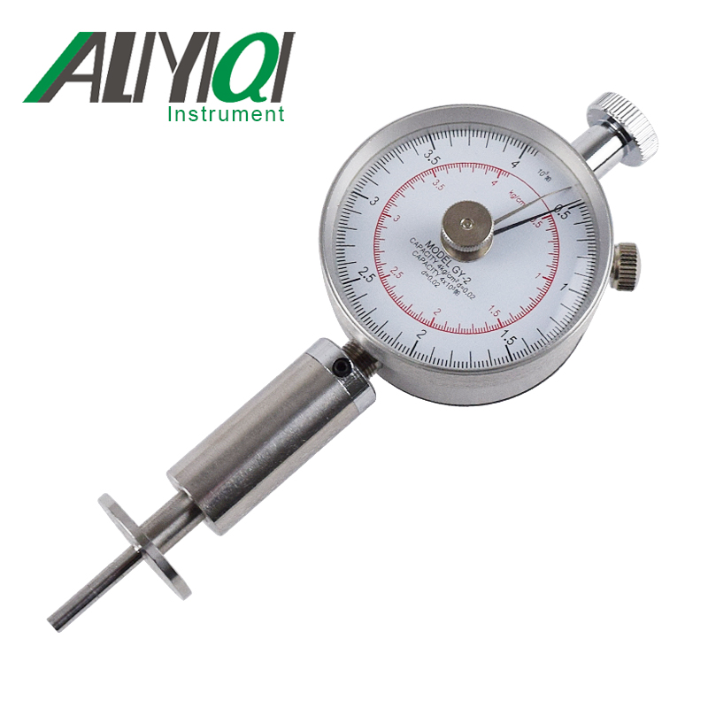 Free Shipping GY-2 Fruit Sclerometer Fruit Durometer Fruit  Hardness Tester Penetrometer Netrometer Penetrometro For Soft Fruits