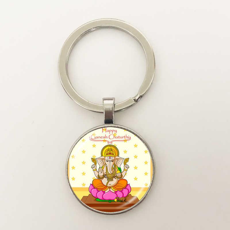 GDRGYB חום 2019 אדון גאנש גנש מפתח אבזם אלוהים של הון ההינדית פיל בודהה מדיטציה רוחנית תכשיטי מפתח אבזם