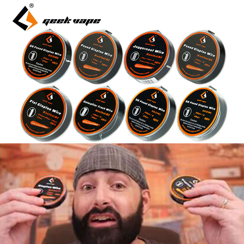 100% Original 10ft GeekVape Clapton SS316 A1 Wire DIY High Quality Professional Builder Wire for RAD RBA Coils with 13 Options