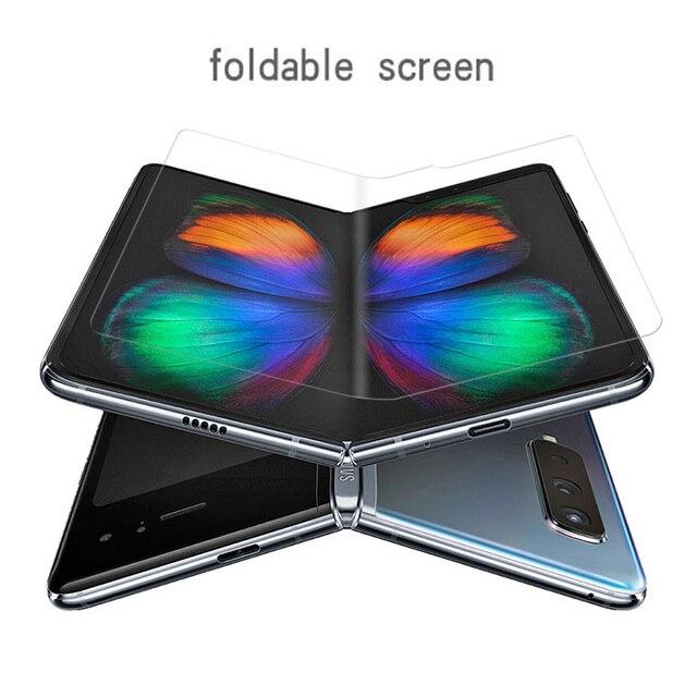 10PCS Ultra dünne Front Volle Abdeckung Weiche Hydrogel Film Für Samsung Galaxy Falten Screen Protector Schutz Film