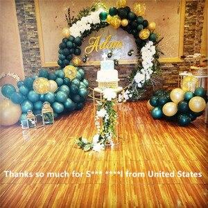 Image 4 - 1.2m/1.5m/2m/2.4m wedding prop iron ring shelf artificial flower wall stand door wedding background decor iron arch  iron stand