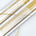 Health care Sterile acupuncture needles full gold silver plated, full gilded, single retainer, 200pcs/lot