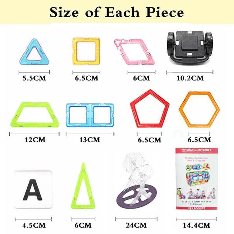 Купить с кэшбэком MylitDear 70Pcs 40Pcs Big Size Magnetic Designer Building Blocks Model Brick Toy Enlighten Bricks Magnetic Toys For Children