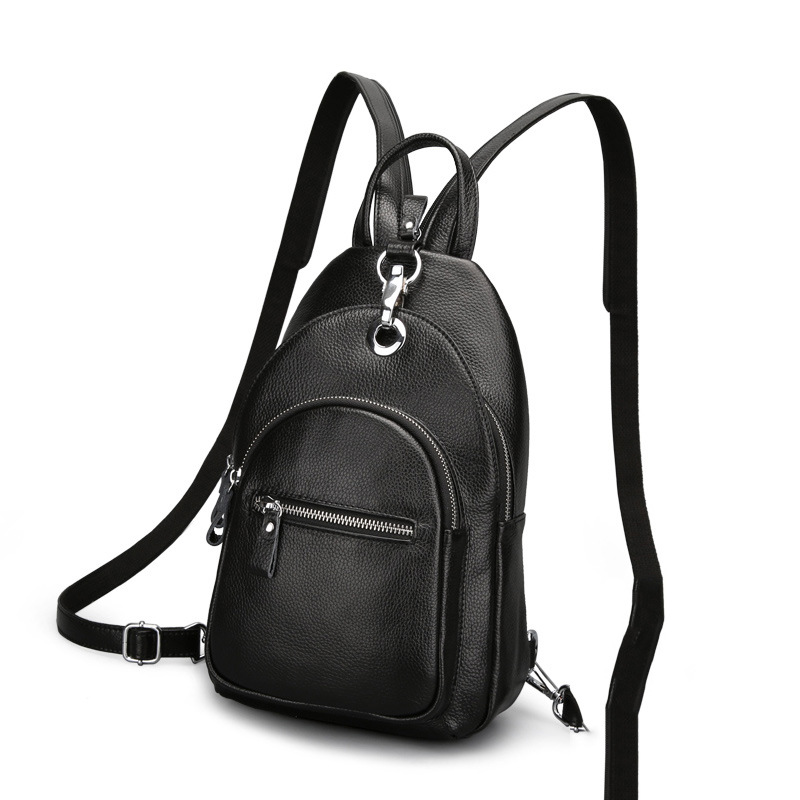 2019 ファッション女性のバックパック革女の子胸バッグ女性デザイナー学生のバックパック旅行ショルダーバッグ  グループ上の スーツケース & バッグ からの バックパック の中 1